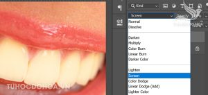 Sử dụng chế độ hoà trộn làm trắng răng trong photoshop