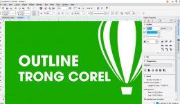 Outline trong Corel - Cách tạo, quản lý đường viền trong corel