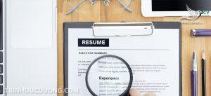 Sai lầm trong CV của Designe trong viết kinh nghiệm làm việc