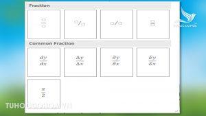 Các loại cấu trúc phân số trong Powerpoint