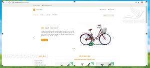 Giao diện Đồ án Website Kinh doanh xe đạp