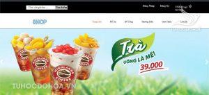 Giao diện chương trình Đồ án Xây dựng Website bán đồ ăn Vặt