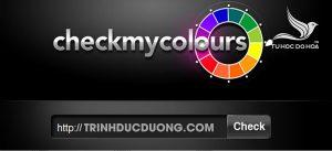 Check my Colours To0 5 những Website hỗ trợ phối màu