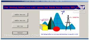 Giao diện chương trình đồ án kiếm tra quan hệ hình học