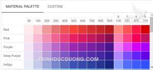 Material Designer Colours Top 6 Những website hỗ trợ phối màu