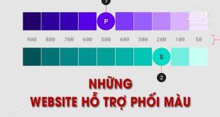 Những website hỗ trợ phối màu